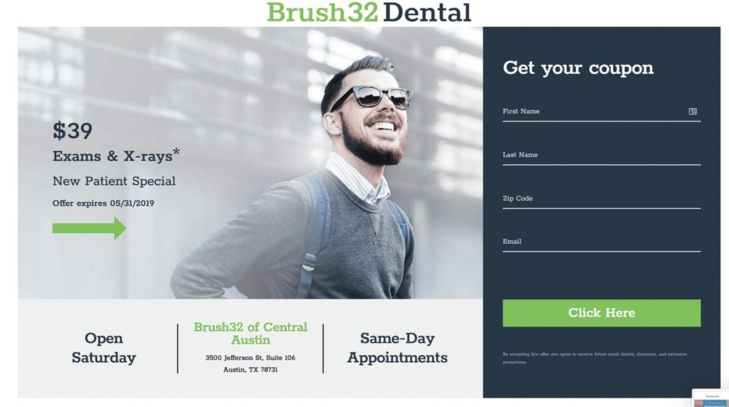 dental-landing-page-coupon