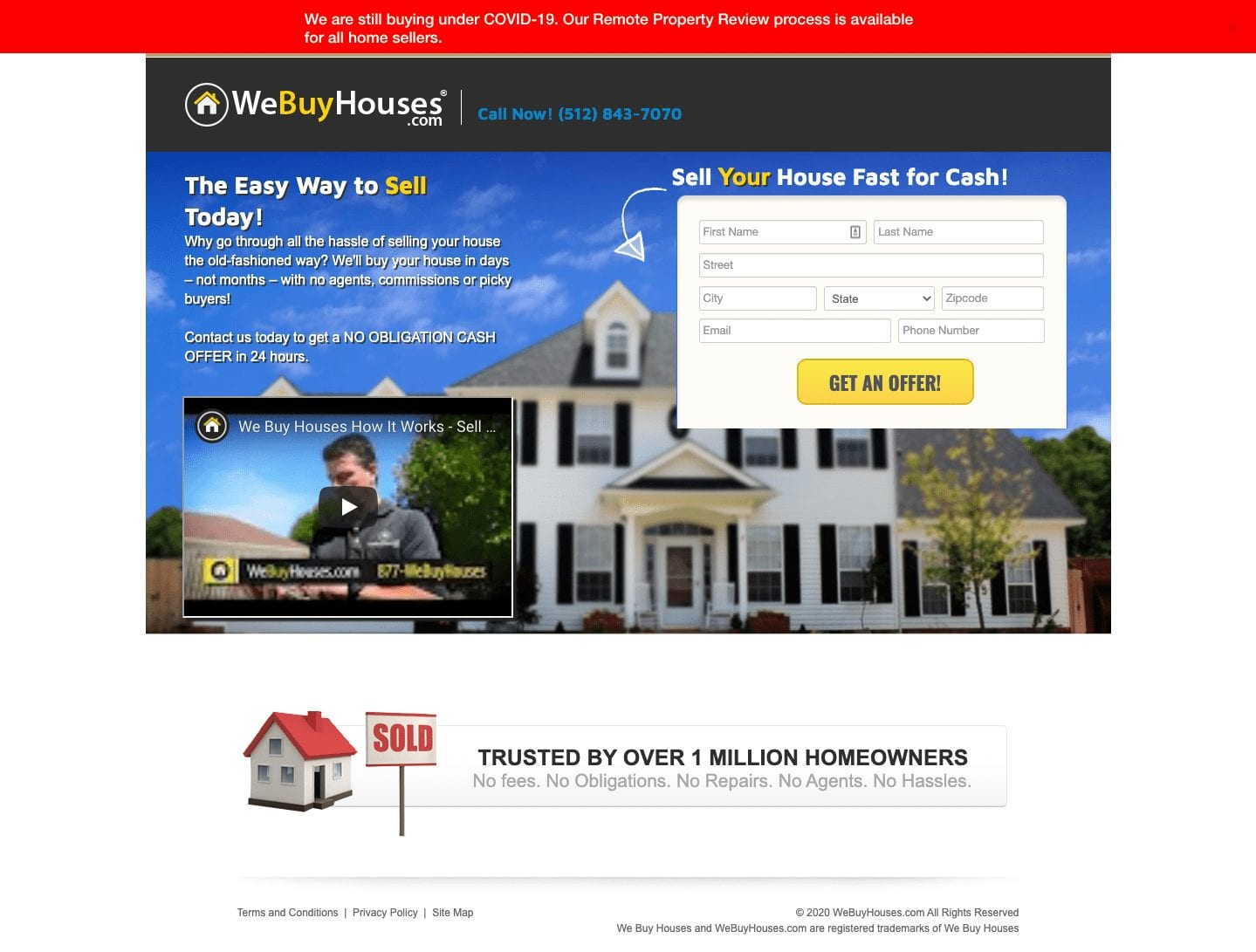 great landing page for real estate agents