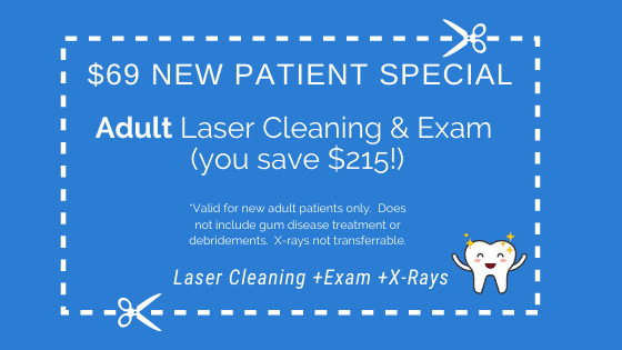$69 New Patient Special for Adults_ Laser Cleaning & Exam ($250 value)